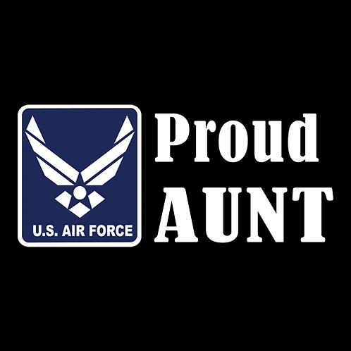 Proud Air Force Aunt - Logo (AF23)