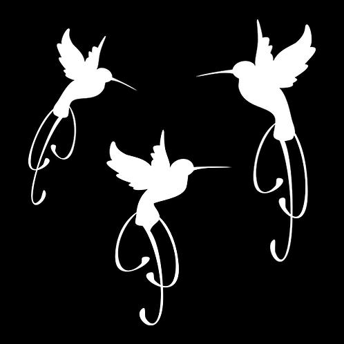 Set of 3 Hummingbirds (PBI10)