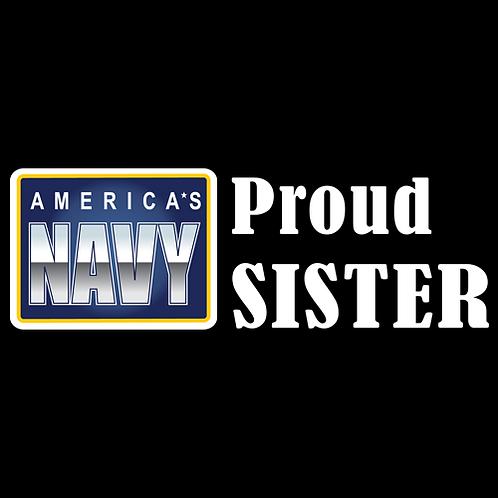 Proud Navy Sister - Logo (N24)