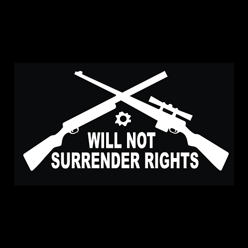 Will Not Surrender Rights (G208)