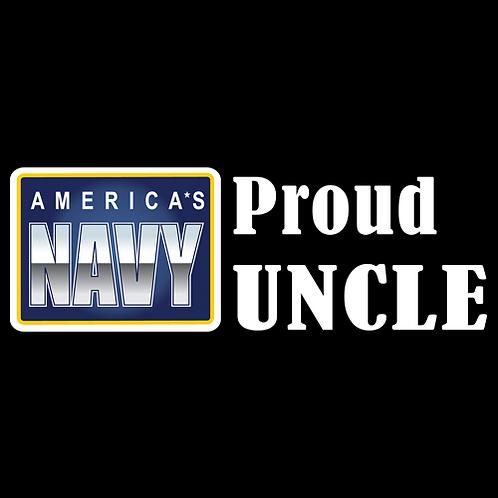 Proud Navy Uncle - Logo (N28)