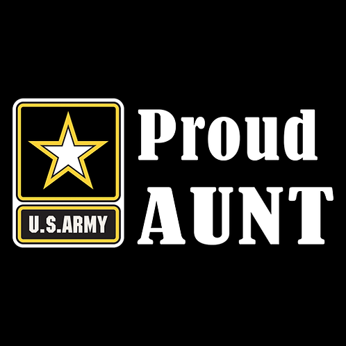 Proud Army Aunt - Logo (A26)