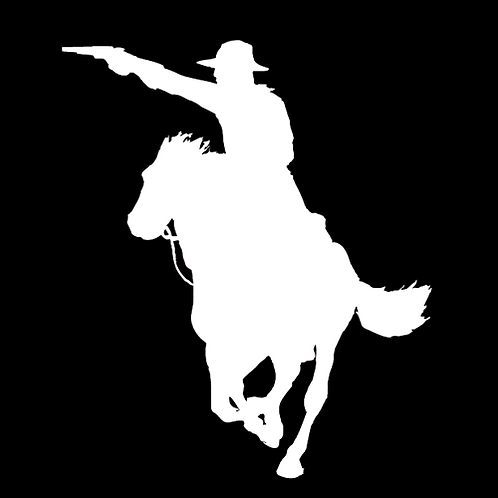 Cowboy Riding Horse With Gun (G7)