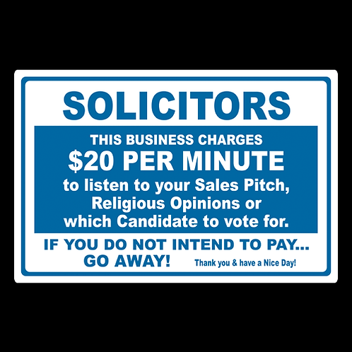 Solicitors - $20 Business - Sign (PVC-48)