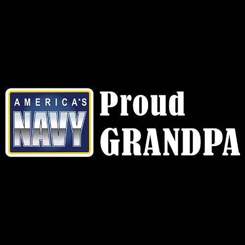 Proud Navy Grandpa - Logo (N26)