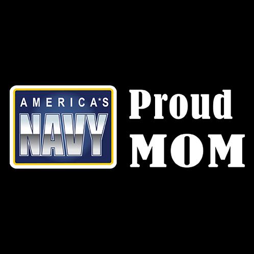 Proud Navy Mom - Logo (N21)