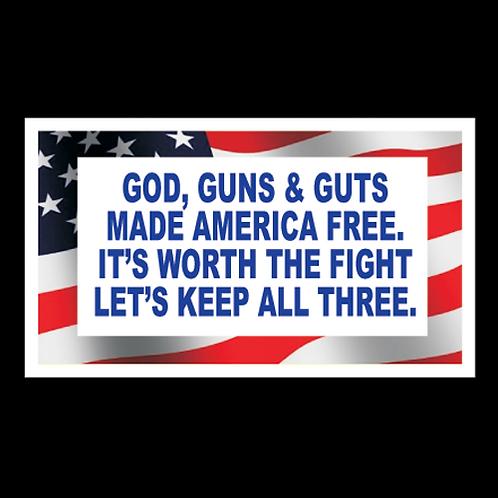 God, Guns & Guts - Color (G109)