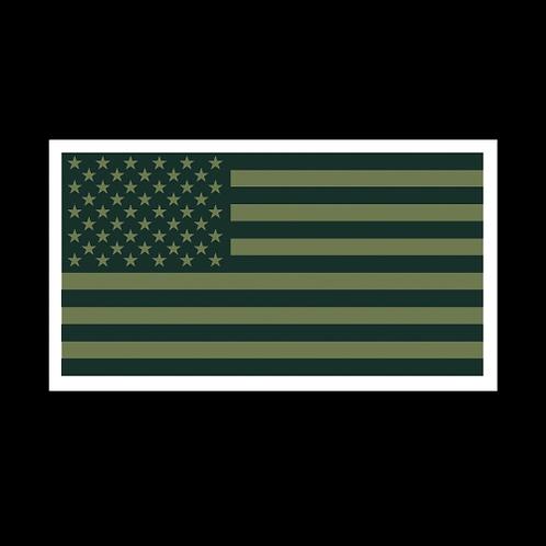 Green American Flag (MIL33A)