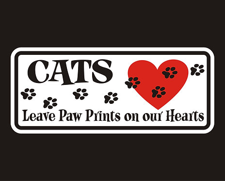 Cats Leave Paw Prints On Our Hearts (PC7)