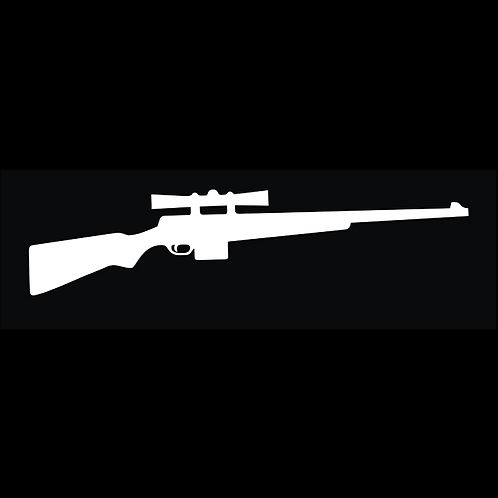 Rifle With Scope Silhouette (G318)
