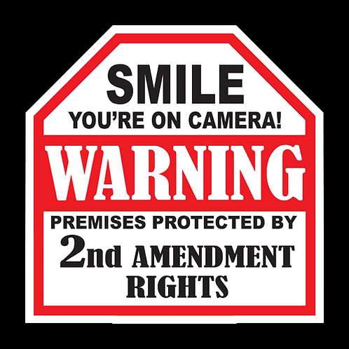 Premises Protected by 2nd Amend. - Sign (PVC-01)