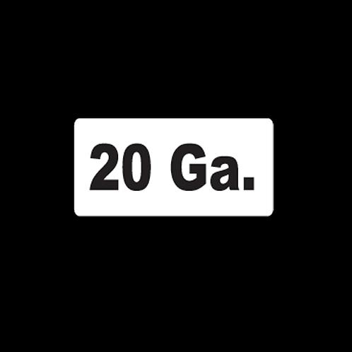 20 Ga. (AM20)