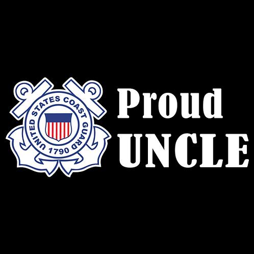 Proud Coast Guard Uncle - Logo (CG25)