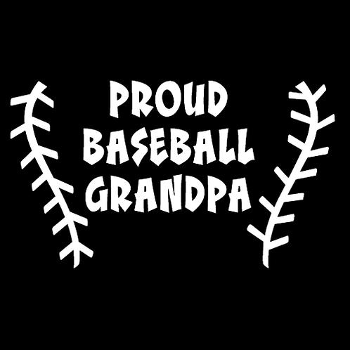 Proud Baseball Grandpa - Baseball Stitching (BB18)