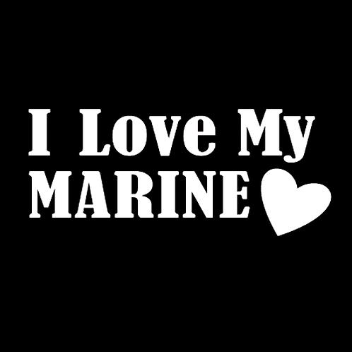 I Love My Marine - Square (M5)