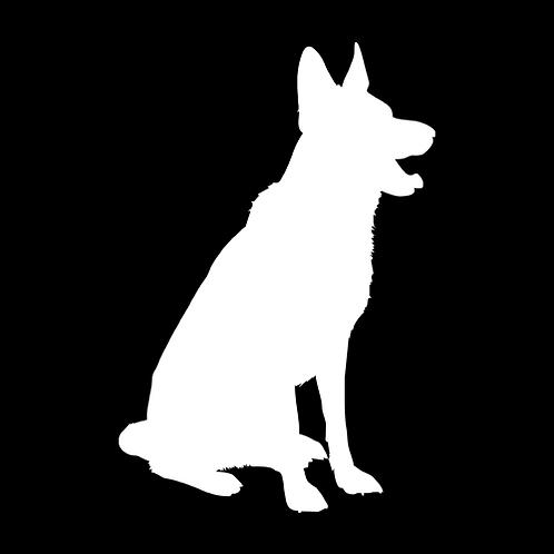German Shepherd Silhouette 2 (PD25)