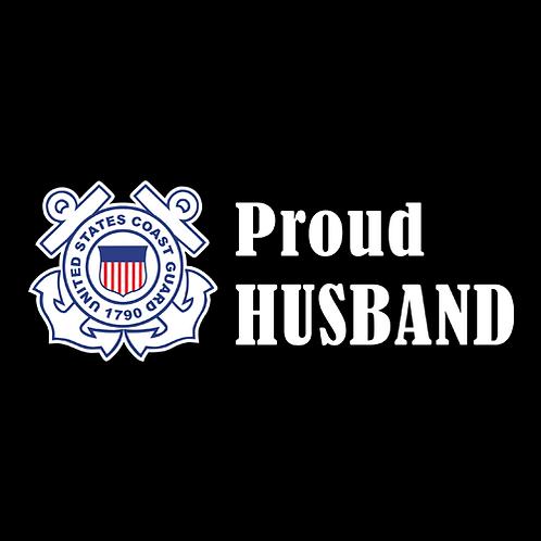Proud Coast Guard Husband - Logo (CG17)