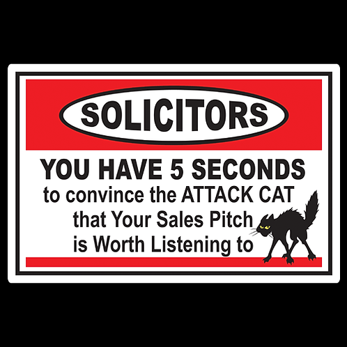 Solicitors - Attack Cat - Sign (PVC-47)