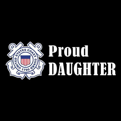 Proud Coast Guard Daughter - Logo (CG27)
