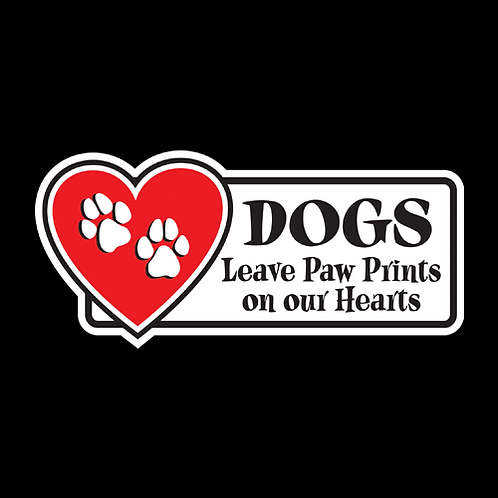 Dogs Leave Paw Prints On Our Hearts (PD4)