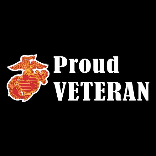 Proud Marine Veteran - Logo (M29)