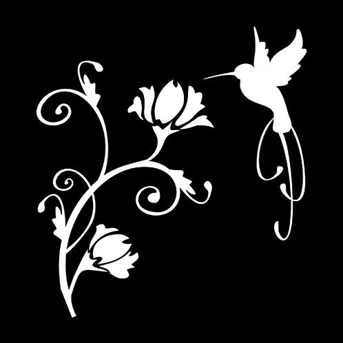Elegant Hummingbird With Flowers (PBI11)