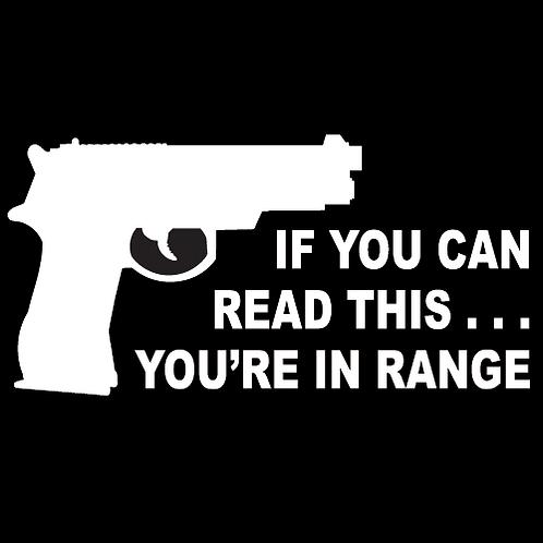 You're In Range - Pistol (G6)