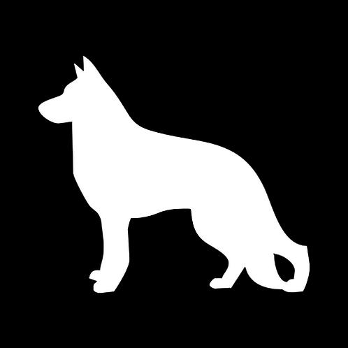 German Shepherd Silhouette 1 (PD19)