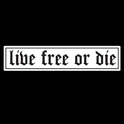 Live Free Or Die - Whtie (MIL41)