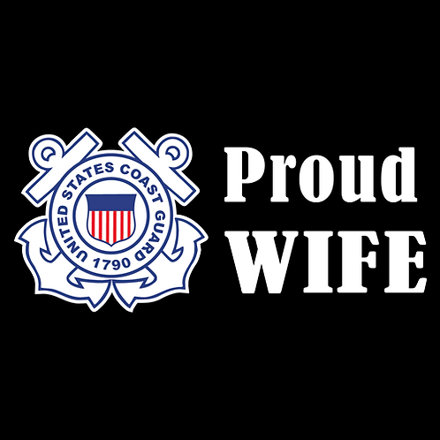 Proud Coast Guard Wife - Logo (CG16)