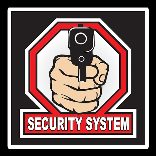 Security System - Sign (PVC-38)
