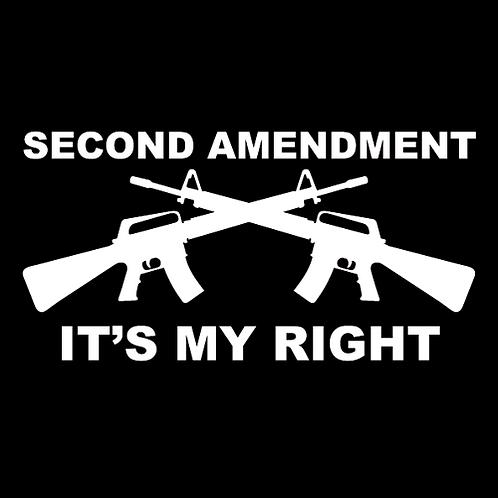 2nd Amendment - It's My Right - White (G33)