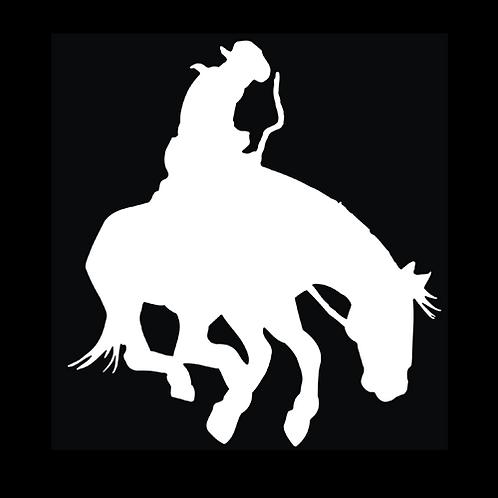 Cowboy Riding Bucking Bronco (W13)