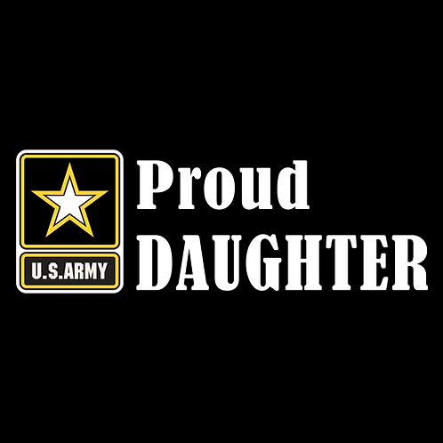 Proud Army Daughter - Logo (A29)