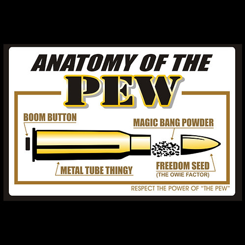 Anatomy Of The Pew - Sign (PVC125)