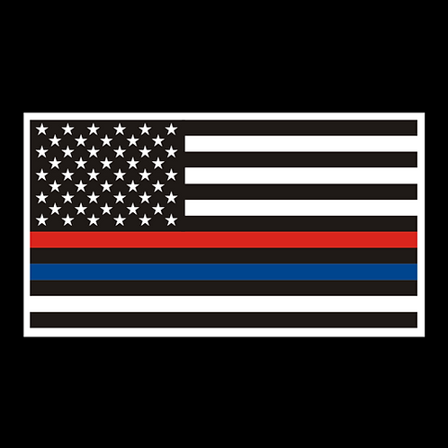 Red/Blue Thin Line - Law Enforcement/Firefighters (MIL54)