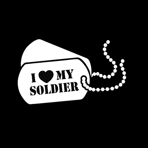 I Love My Soldier - Dog Tags (A36)