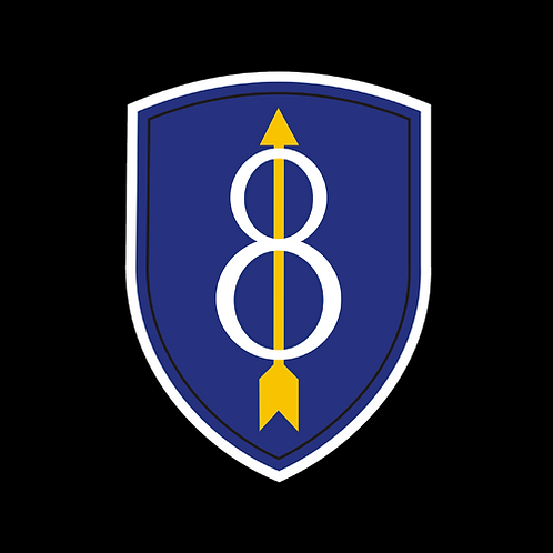 8th Infantry Division Insignia (A44)
