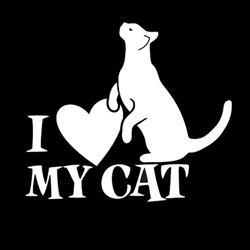 I Love Me Cat - Silhouette (PC25)