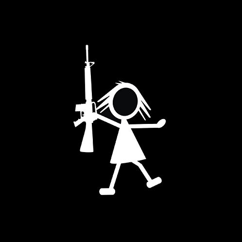 Young Girl Stick Figure - AR (G382)