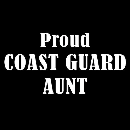 Proud Coast Guard Aunt (CG10)
