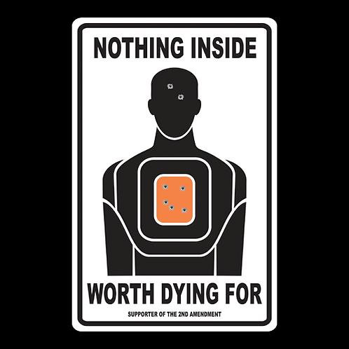 Nothing Inside - Man - Sign (PVC-37)