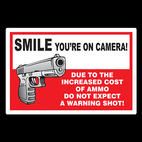 Smile, You're On Camera - Sign (PVC-34)
