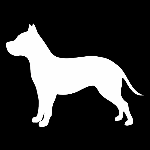 Staffordshire Terrier Silhouette 2 (PD31)
