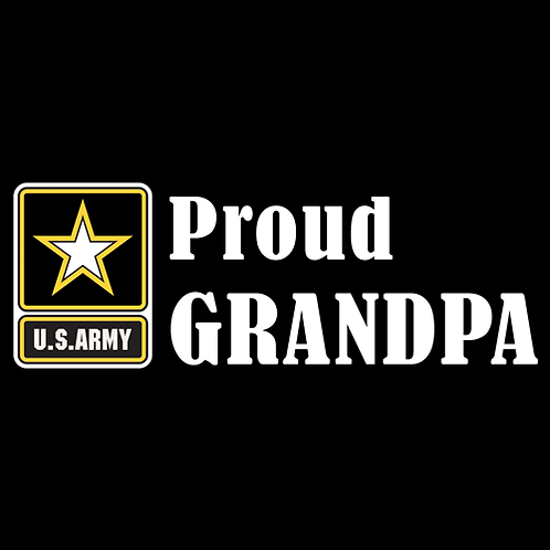 Proud Army Grandpa - Logo (A25)