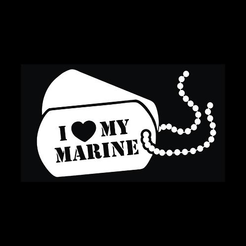 I Love My Marine - Dog Tags (M35)