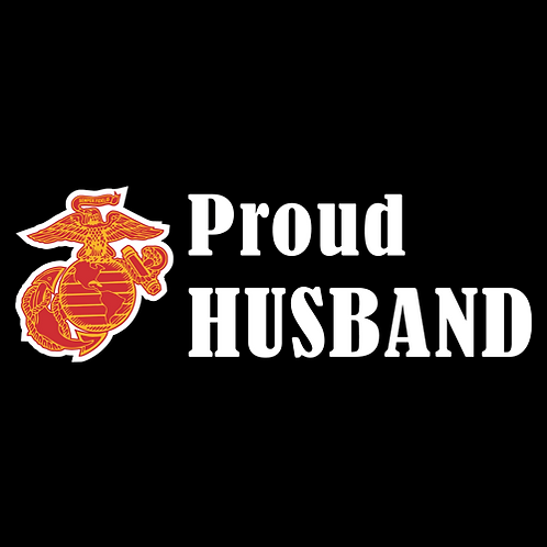 Proud Marine Husband - Logo (M18)