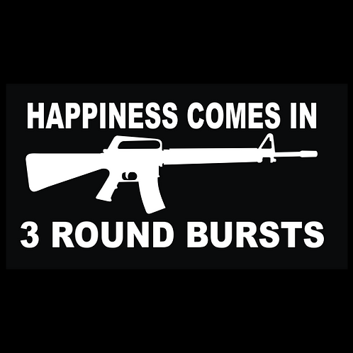 Happiness Comes In 3 Round Bursts (G283)