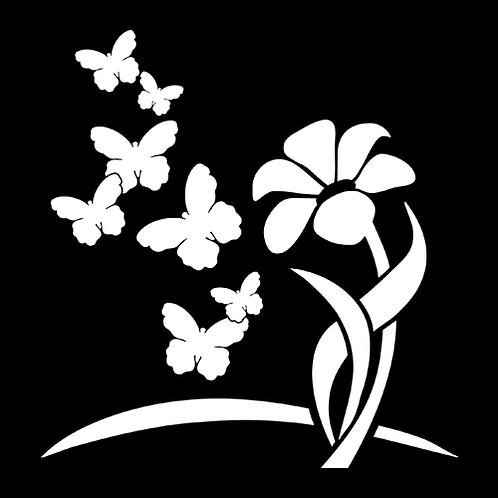 Butterflies And Flowers (PB5)