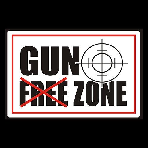 Gun Free (Not) Zone - Sign (PVC126)